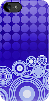 Concentrics - Blue [iPhone/iPod case] by Damienne Bingham