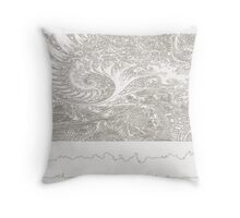 Sketched Sea Shell Throw Pillow
