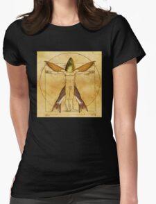 Vitruvian... fish? Womens Fitted T-Shirt