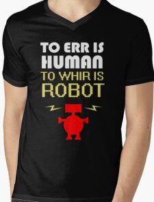 To Err Is Human, To Whir Is Robot (light design) Mens V-Neck T-Shirt