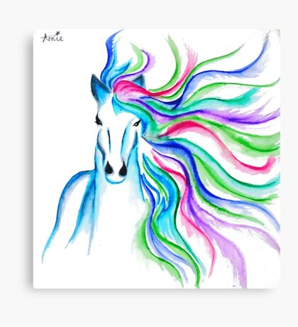 Unicorn Pen and Ink drawing Canvas Print