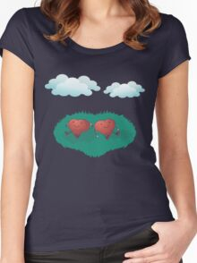 HEARTS IN THE CLOUDS Women's Fitted Scoop T-Shirt