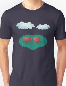 HEARTS IN THE CLOUDS Unisex T-Shirt