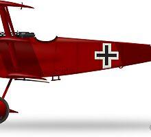 Fokker Dr1 by CobbWebb