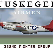 P-51D Mustang, Tuskegee Airmen by CobbWebb