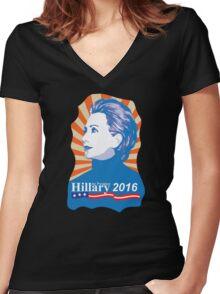 Hillary 2016 Women's Fitted V-Neck T-Shirt
