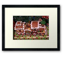 Gingerbread train Framed Print