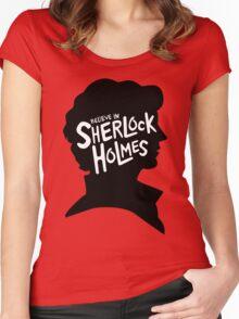 Believe In Sherlock Holmes Women's Fitted Scoop T-Shirt