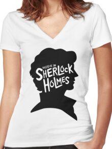 Believe In Sherlock Holmes Women's Fitted V-Neck T-Shirt