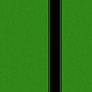 Racing Stripe - Black on Green Flake by ubiquitoid
