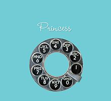 Tiffany Blue Princess Rotary Dial iPhone Case by shixa