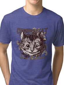 Cheshire Cat Carnivale Style Tri-blend T-Shirt