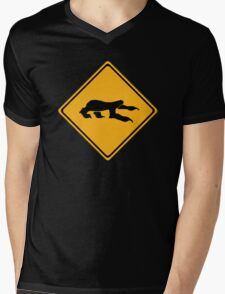 Sloth Crossing Mens V-Neck T-Shirt