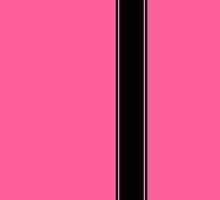 Racing Stripe - Black on Pink by ubiquitoid