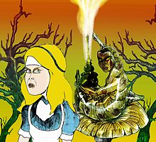 Alice and the Hookah Smoking Caterpillar part 2 by Grant Wilson