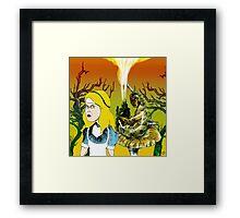 Alice and the Hookah Smoking Caterpillar part 2 Framed Print