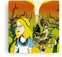 Alice and the Hookah Smoking Caterpillar part 2 Canvas Print