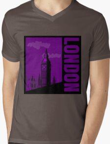 Minimalist London Big Ben - Comic Art Mens V-Neck T-Shirt