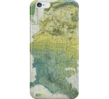 Vintage United States Precipitation Map (1916) iPhone Case/Skin