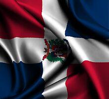 Dominican Republic Flag Drop by CreativoDesign