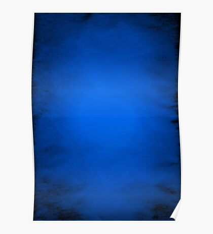 Crumpled blue paper  Poster