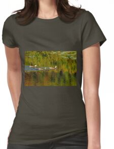 Autumn Feathers And Rippled Reflections Womens Fitted T-Shirt