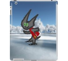 Cat IceSkating iPad Case/Skin
