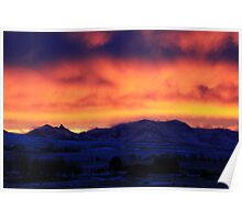 Mountainview Sunset Poster