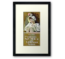 Get Fat 1895 Vintage Advertising Poster Framed Print