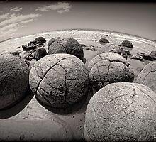 Moeraki Boulders by Phoxford