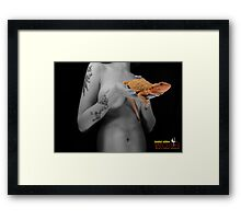 Bearded dragon and his master Framed Print
