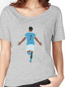 Raheem Sterling celebrating his hat-trick. Women's Relaxed Fit T-Shirt