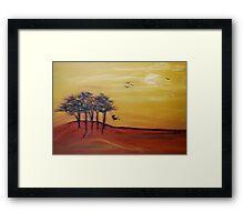 swinging in the breeze Framed Print