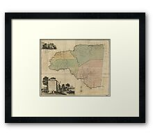 Map of Cornwall Count Jamaica (1763) Framed Print