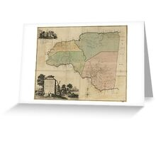 Map of Cornwall Count Jamaica (1763) Greeting Card