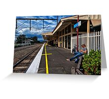 Lilydale Railway Station. Greeting Card