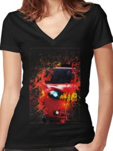 Dodge Dart Women's Fitted V-Neck T-Shirt