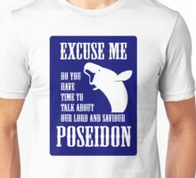 Our Lord and Saviour Poseidon (Blue design) Unisex T-Shirt