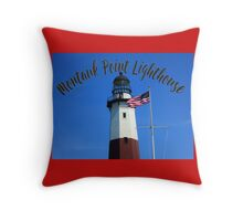 Montauk Point Lighthouse Throw Pillow