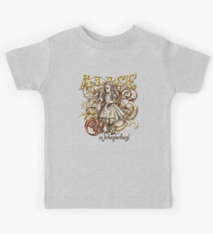 Alice In Wonderland Carnivale Style - Gold Version Kids Tee