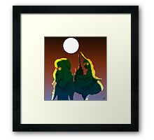Alice and the Hookah Smoking Caterpillar part 3 Framed Print