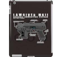 Lawgiver MKII Schematic Vector iPad Case/Skin