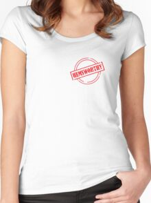 Are you Certified Hemsworthy? Women's Fitted Scoop T-Shirt