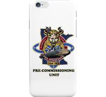 SSN-783 USS Minnesota Pre-commissioning Unit Crest iPhone Case/Skin
