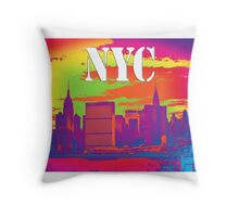 NYC East River View Throw Pillow