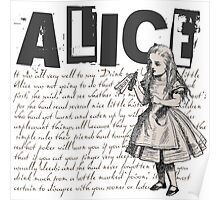 Alice In Wonderland with Text Poster