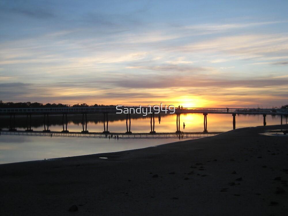Sunset at Lakes Entrance VIC Australia by Sandy1949