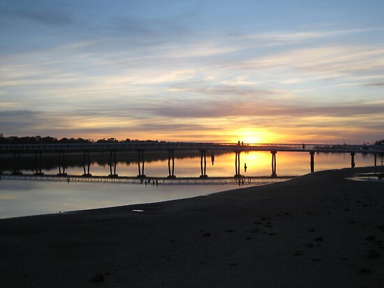 Sunset at Lakes Entrance VIC Australia by Sandy1949
