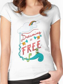 Dreaming is Free Women's Fitted Scoop T-Shirt