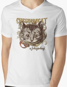 Cheshire Cat Carnivale Style - Gold Version Mens V-Neck T-Shirt